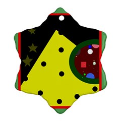 Abstract design Snowflake Ornament (2-Side)