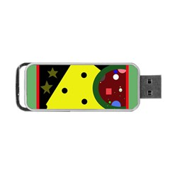 Abstract design Portable USB Flash (Two Sides)