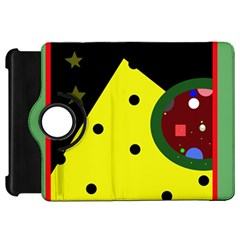 Abstract design Kindle Fire HD Flip 360 Case