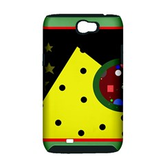 Abstract design Samsung Galaxy Note 2 Hardshell Case (PC+Silicone)