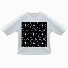 Black and white floral pattern Infant/Toddler T-Shirts
