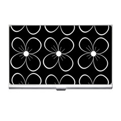 Black and white floral pattern Business Card Holders