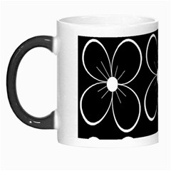 Black and white floral pattern Morph Mugs