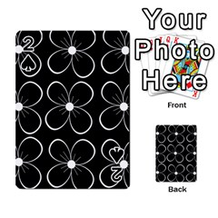 Black and white floral pattern Playing Cards 54 Designs