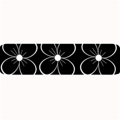 Black and white floral pattern Large Bar Mats