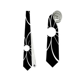Black and white floral pattern Neckties (Two Side)