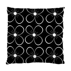 Black and white floral pattern Standard Cushion Case (Two Sides)