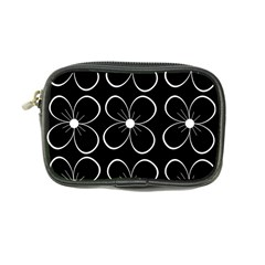 Black and white floral pattern Coin Purse