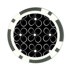 Black and white floral pattern Poker Chip Card Guards (10 pack)