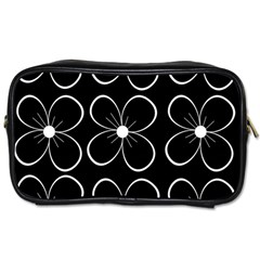 Black and white floral pattern Toiletries Bags