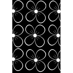 Black and white floral pattern 5.5  x 8.5  Notebooks