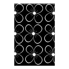 Black and white floral pattern Shower Curtain 48  x 72  (Small)