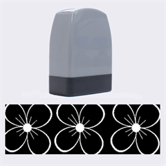 Black And White Floral Pattern Name Stamps