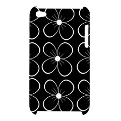 Black and white floral pattern Apple iPod Touch 4