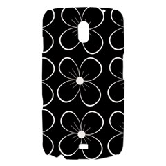 Black and white floral pattern Samsung Galaxy Nexus i9250 Hardshell Case