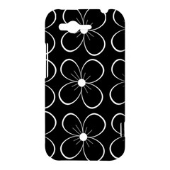 Black and white floral pattern HTC Rhyme