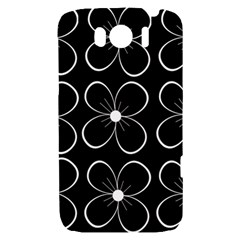 Black and white floral pattern HTC Sensation XL Hardshell Case