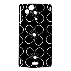 Black and white floral pattern Sony Xperia Arc