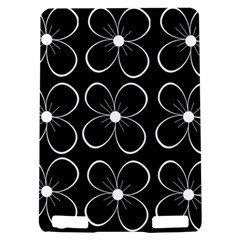 Black and white floral pattern Kindle Touch 3G