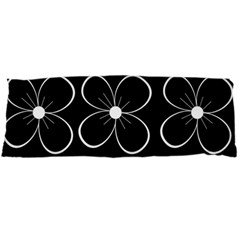Black and white floral pattern Body Pillow Case Dakimakura (Two Sides)