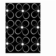 Black and white floral pattern Small Garden Flag (Two Sides)