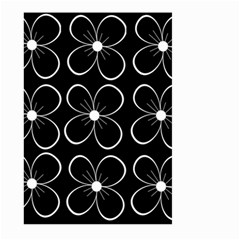 Black and white floral pattern Large Garden Flag (Two Sides)