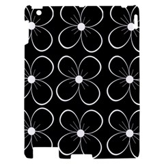 Black and white floral pattern Apple iPad 2 Hardshell Case