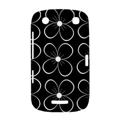 Black and white floral pattern BlackBerry Curve 9380