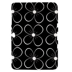 Black and white floral pattern Samsung Galaxy Tab 8.9  P7300 Hardshell Case