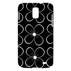 Black and white floral pattern Samsung Galaxy S II Skyrocket Hardshell Case