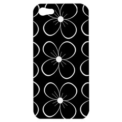 Black and white floral pattern Apple iPhone 5 Hardshell Case