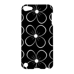 Black and white floral pattern Apple iPod Touch 5 Hardshell Case