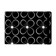 Black and white floral pattern Apple iPad Mini Flip Case