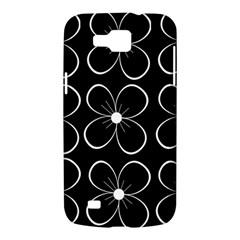 Black and white floral pattern Samsung Galaxy Premier I9260 Hardshell Case