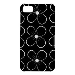 Black and white floral pattern BlackBerry Z10