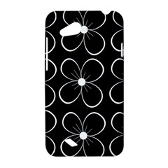 Black and white floral pattern HTC Desire VC (T328D) Hardshell Case