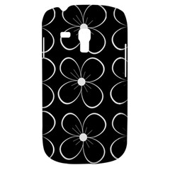 Black and white floral pattern Samsung Galaxy S3 MINI I8190 Hardshell Case