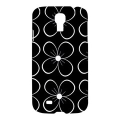 Black and white floral pattern Samsung Galaxy S4 I9500/I9505 Hardshell Case