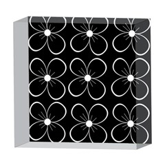 Black and white floral pattern 5  x 5  Acrylic Photo Blocks