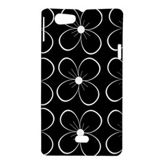 Black and white floral pattern Sony Xperia Miro