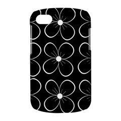 Black and white floral pattern BlackBerry Q10
