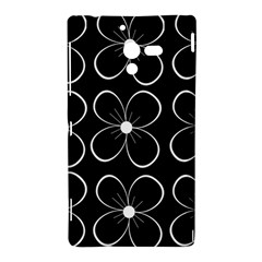 Black and white floral pattern Sony Xperia ZL (L35H)