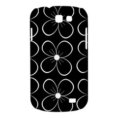 Black and white floral pattern Samsung Galaxy Express I8730 Hardshell Case