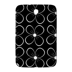 Black and white floral pattern Samsung Galaxy Note 8.0 N5100 Hardshell Case