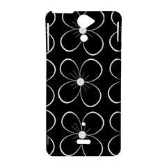Black and white floral pattern Sony Xperia V