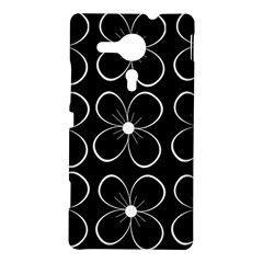 Black and white floral pattern Sony Xperia SP