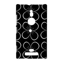 Black and white floral pattern Nokia Lumia 925