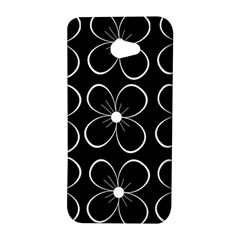 Black and white floral pattern HTC Butterfly S/HTC 9060 Hardshell Case