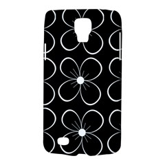 Black and white floral pattern Galaxy S4 Active