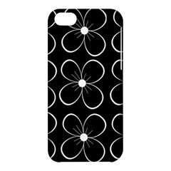 Black and white floral pattern Apple iPhone 5C Hardshell Case